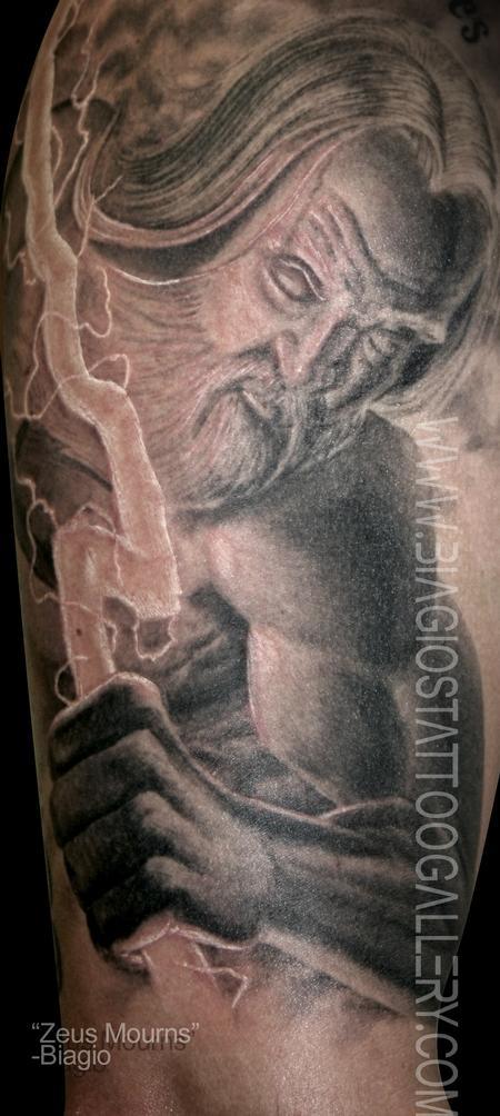 Amazing Zeus tattoo