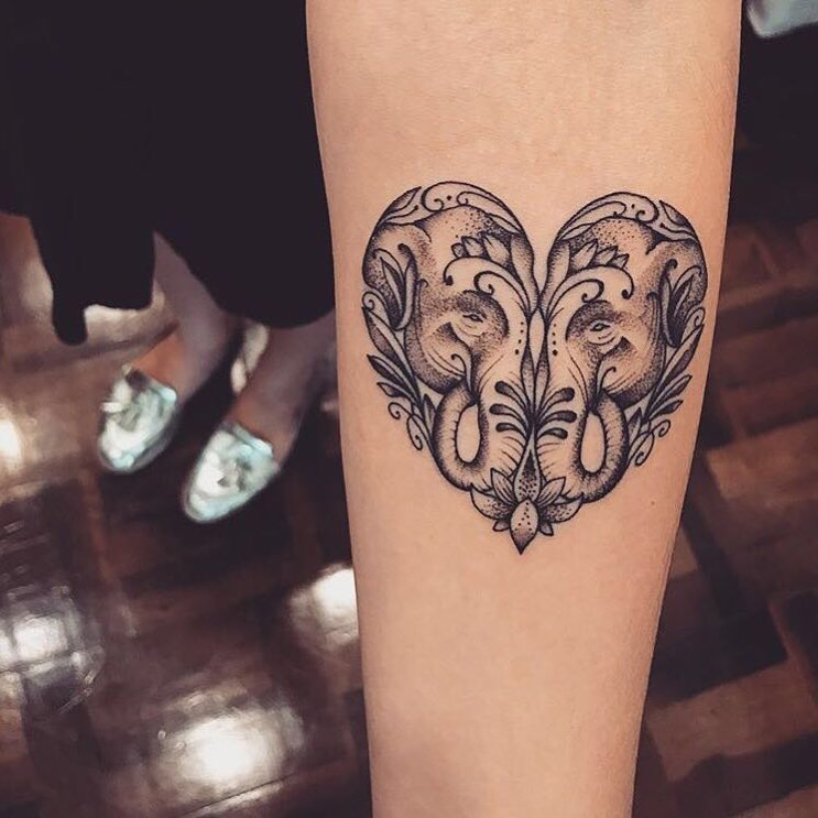Original heart tattoo