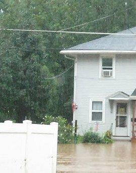Flooded housea