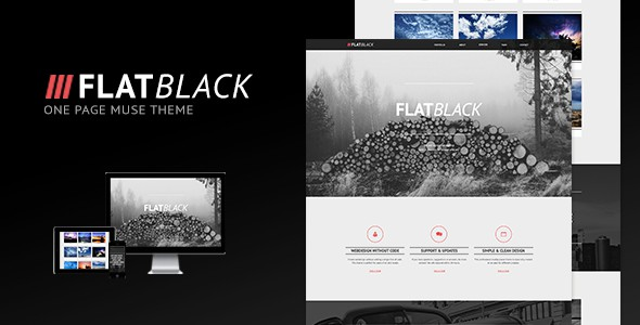 Flatblack-One-Page-Muse-Theme