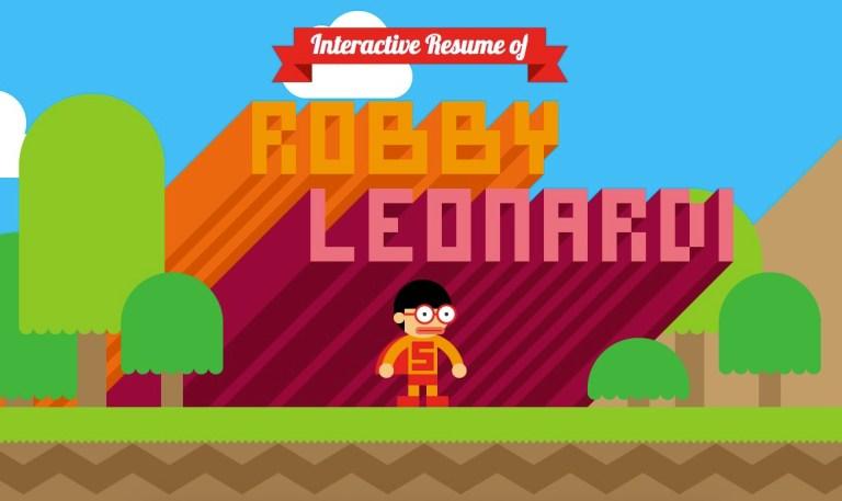 Curriculum interactivode Robby Leonardi.