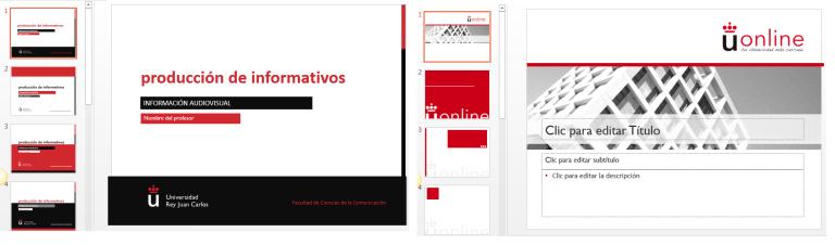 Plantilla PPT Presencial y Plantilla PPT Semipresencial y online