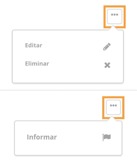 Eliminar, editar o reportar