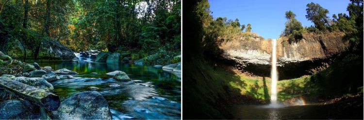 De izquierda a derecha: Cascadas Truot y Lieng Nung