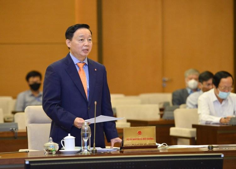 Bộ trưởng Bộ Tài nguyên và Môi trường Trần Hồng Hà. (Nguồn ảnh: TTXVN)