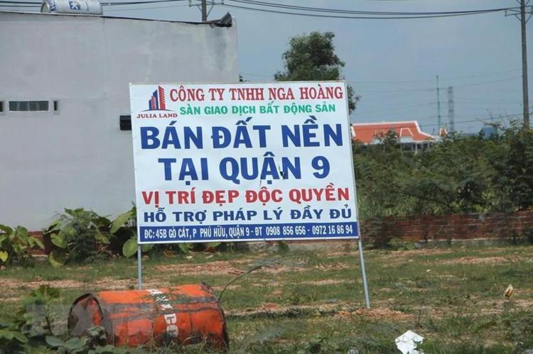 """""""Dự án ma"""" đất nền bủa vây vùng ven Thành phố Hồ Chí Minh. (Nguồn ảnh: TTXVN)"""