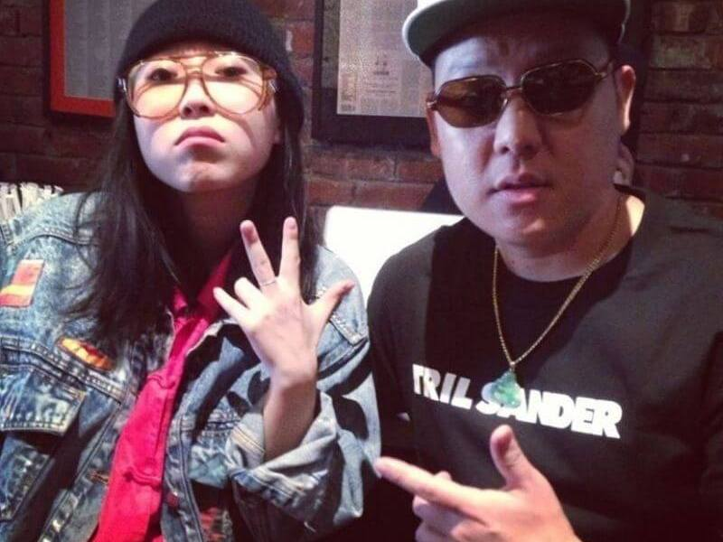 Awkwafina with Eddie Huang