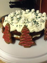 gingerbread tree + giant donut