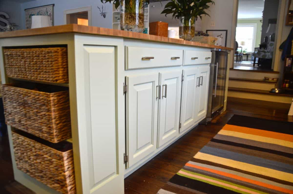 restore kitchen cabinets island on casters new and improved
