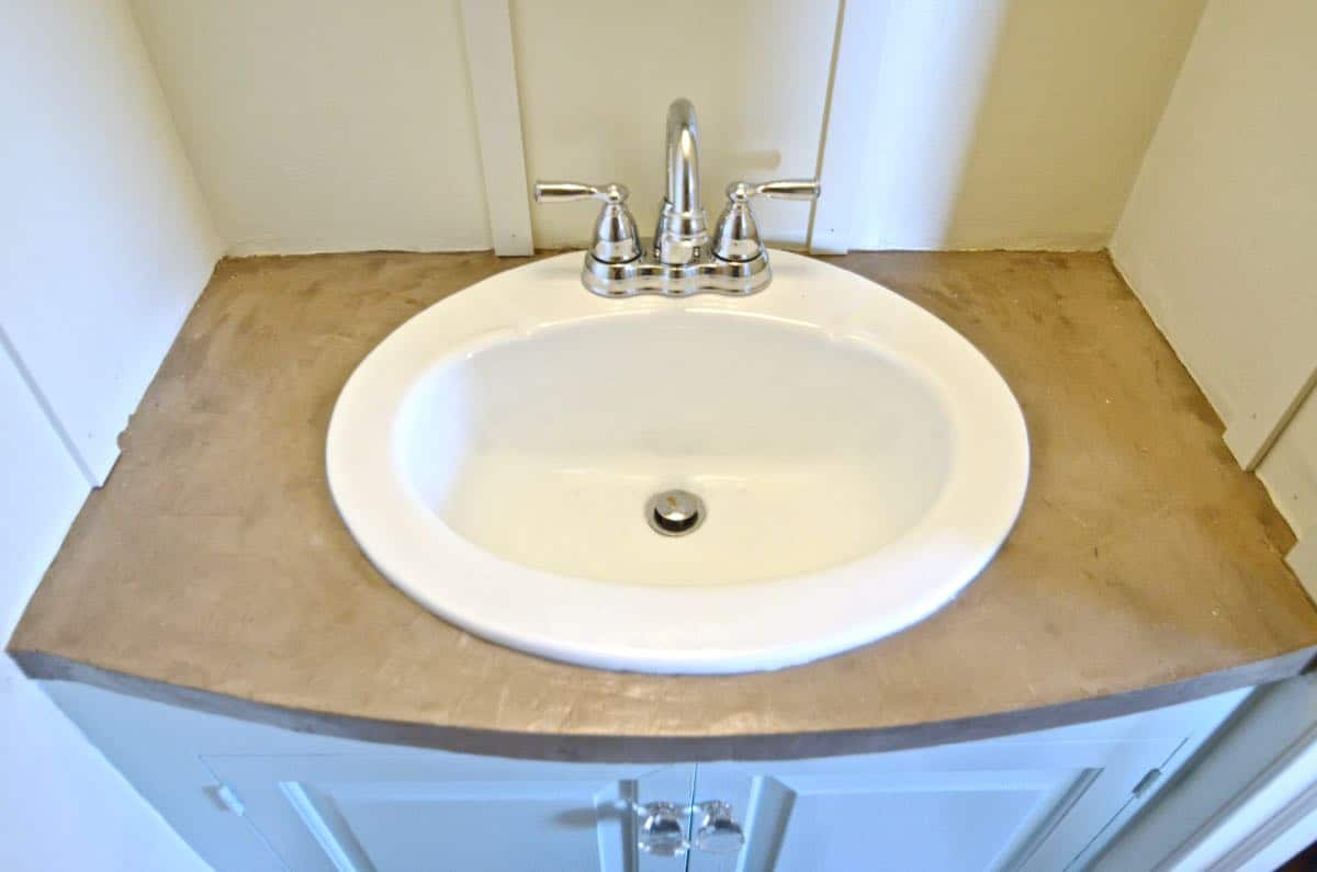 how to refinish kitchen sink automatic paper towel dispenser for refinished concrete vanity top
