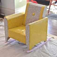 Upholstered Kids Chair Wedding Covers And Sashes To Buy Reupholstered Rocker