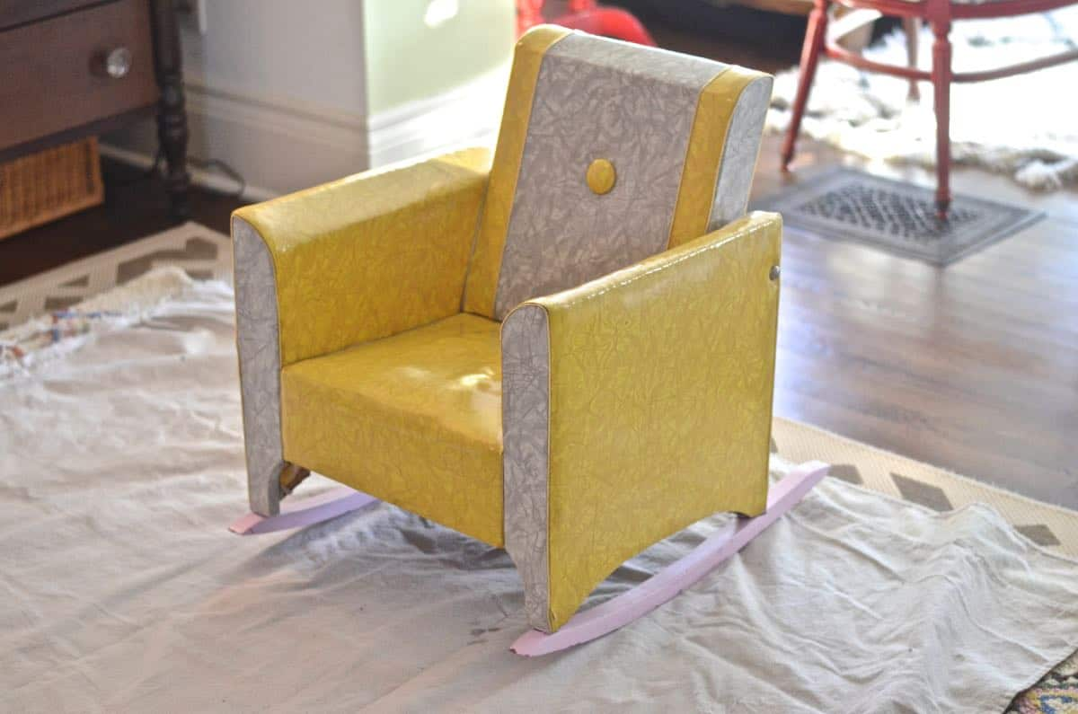 childrens upholstered chair pier 1 imports cushions reupholstered kids rocker