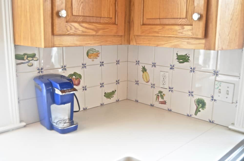 How To Paint Kitchen Backsplash Tile At Charlotte's House