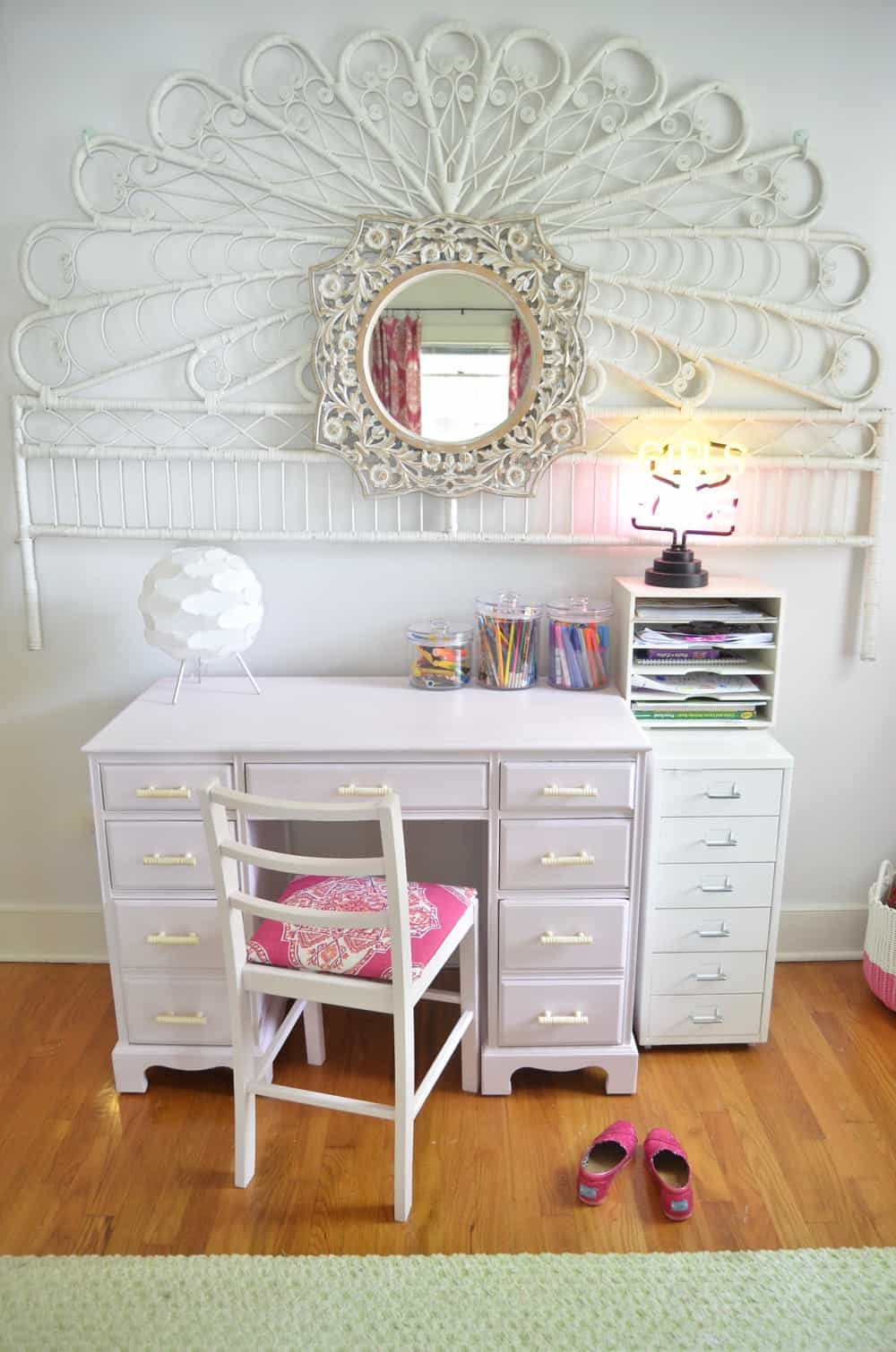 Refinished Desk for a Little Girls Room  At Charlottes House