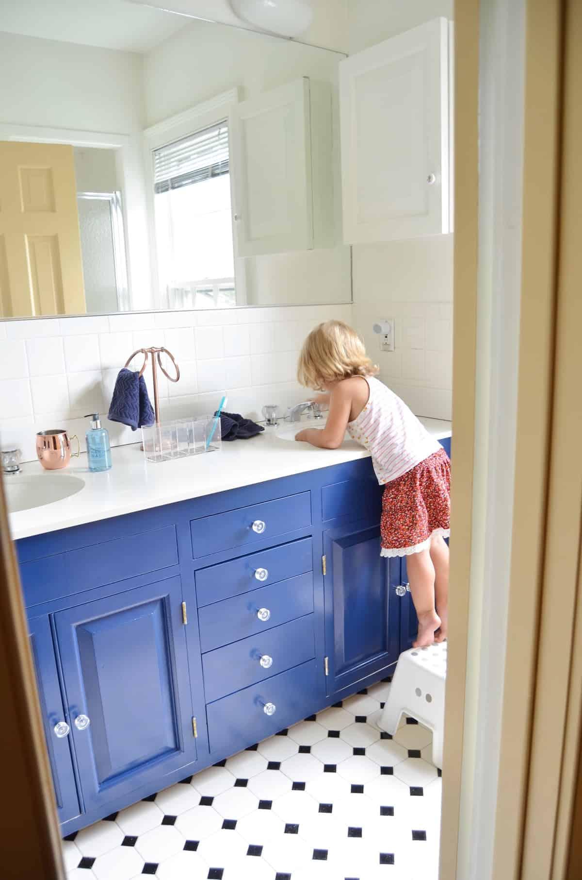Navy Blue Vanity Makeover  At Charlottes House