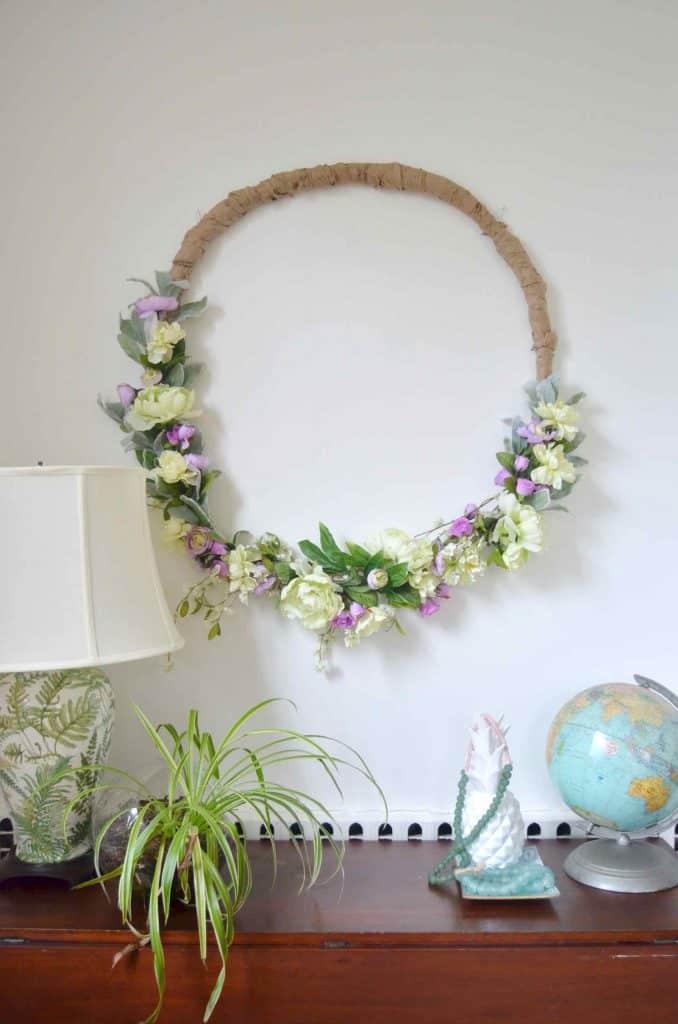 Budget DIY Spring Wreath  At Charlottes House