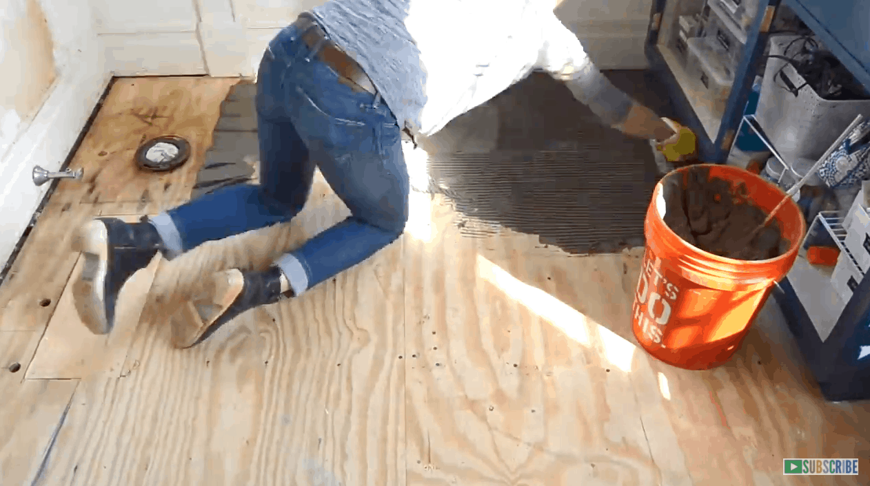 how to prep and tile a floor at