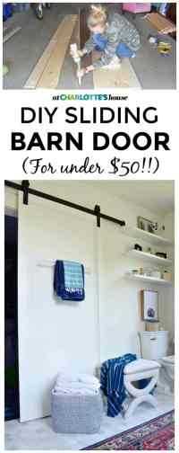 DIY Sliding Barn Door - At Charlotte's House