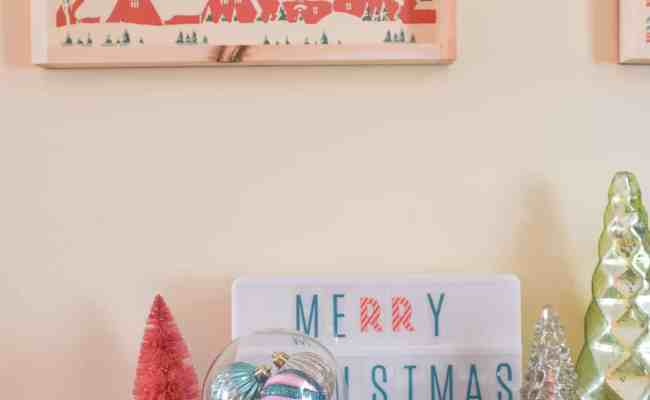 Diy Retro Christmas Art At Charlotte S House