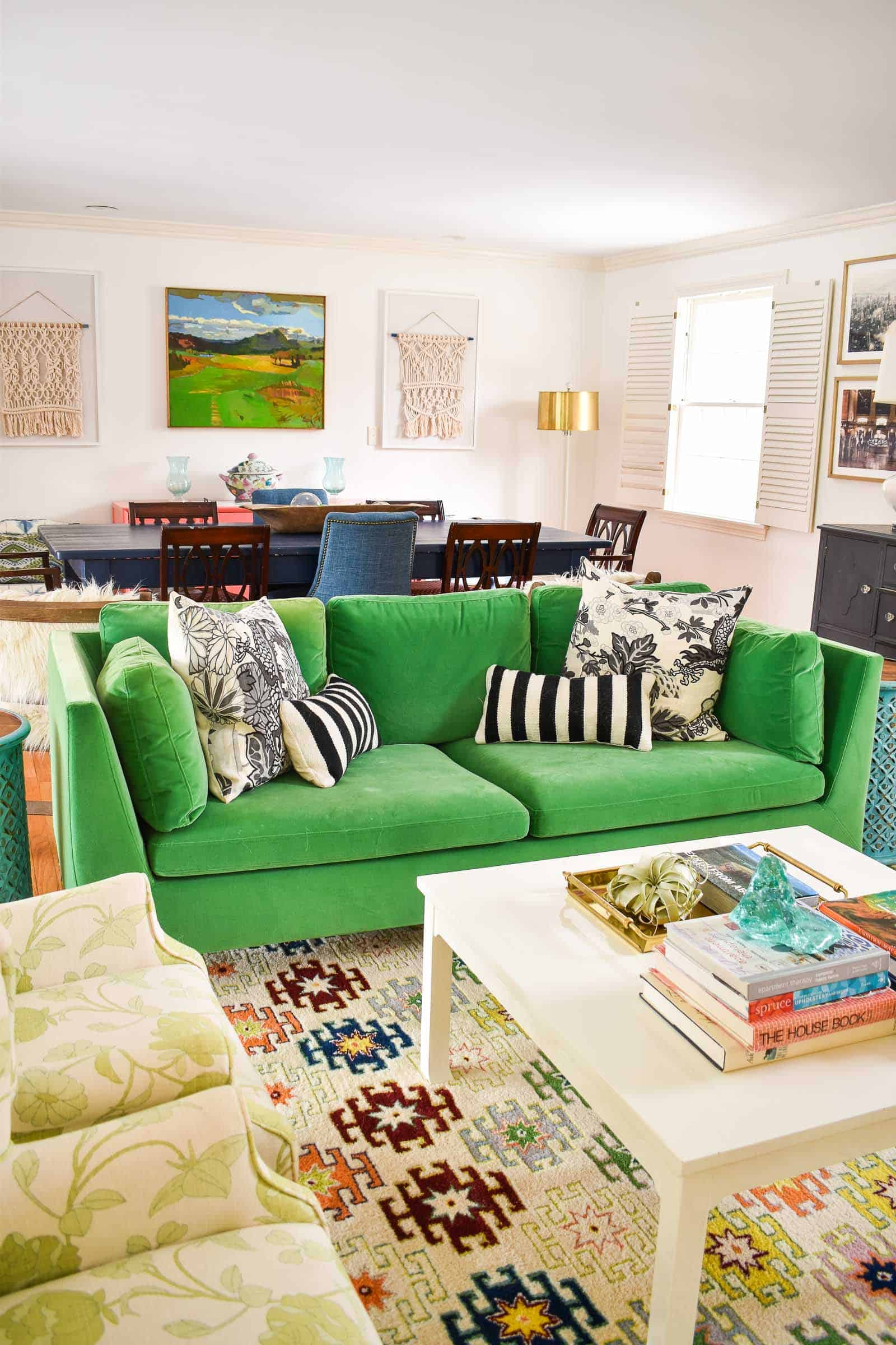 colorful living room reveal