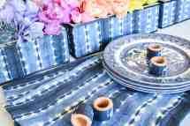 Make Indigo Table Decor With Rainbow Flower