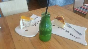 Mango Cake ,Double Apple Malunggay Drink and Dulce de Leche Cake