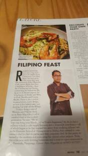 Chef Don's feature in a magazine.