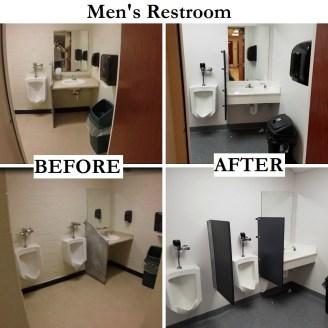 Men's Restroom Before & After