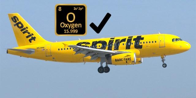 Spirit Airlines Oxygen