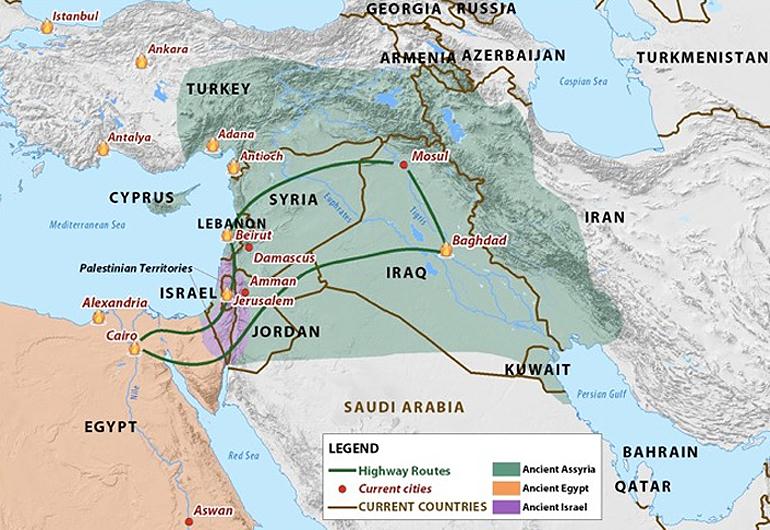 Isaiah 19 nations map