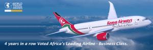Kenya Airways WTA2016 Leading Business Class