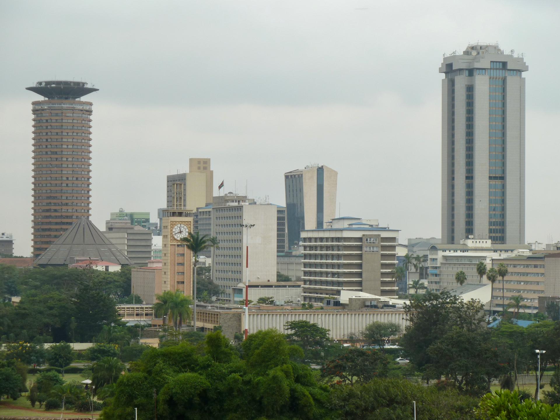 Safari w Kenii, panorama Nairobi