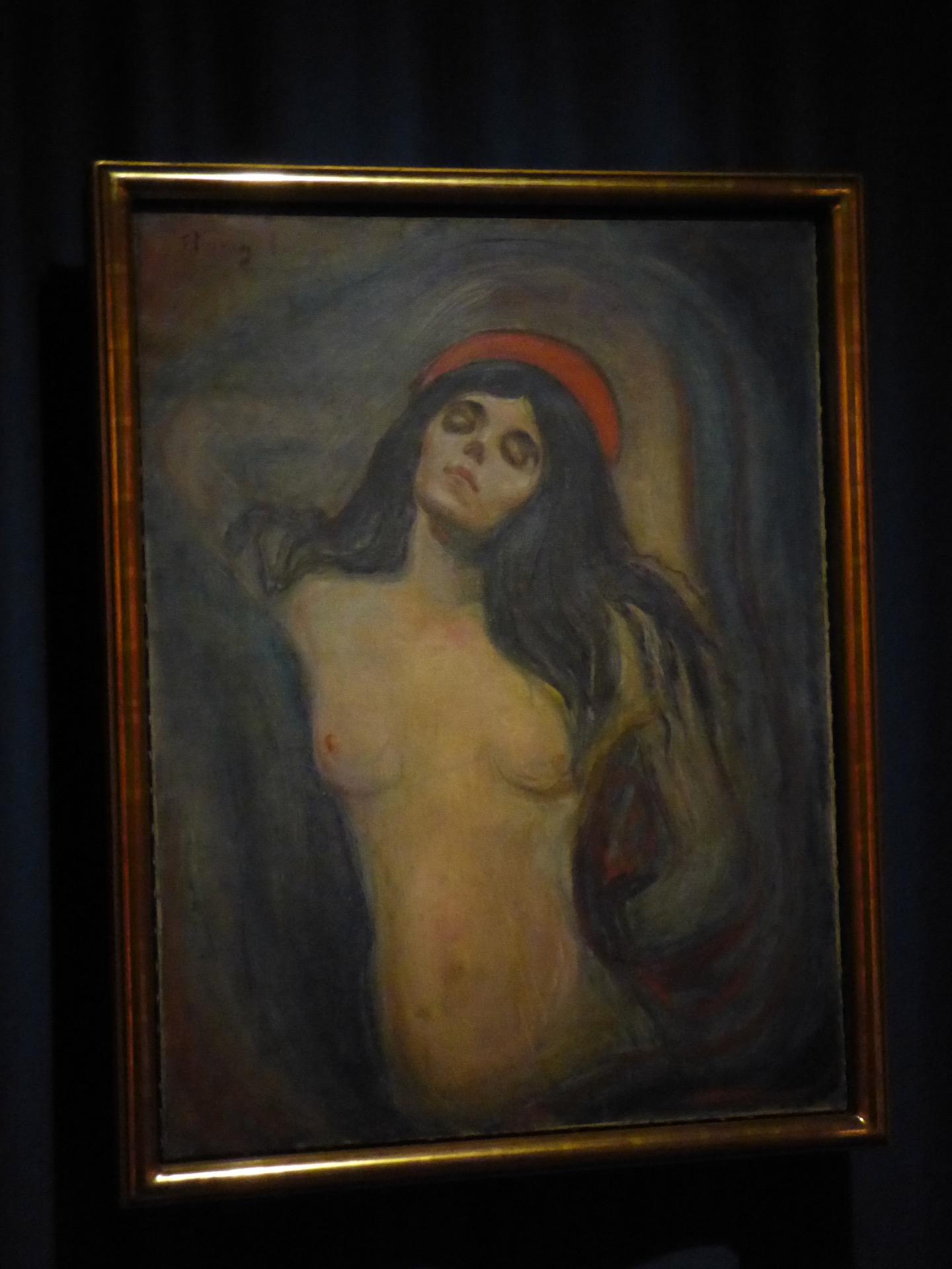 Obraz Madonny w Muzeum Muncha