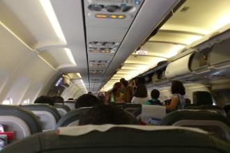 Interior de una cabina de Iberia.