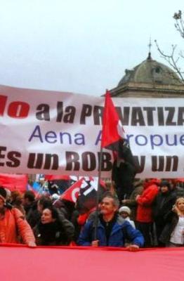 Protesta en Madrid. Fotografía de CGT
