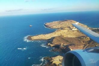 Avión de Iberia en vuelo sobre Gran Canaria. Fotografía: ATCpress