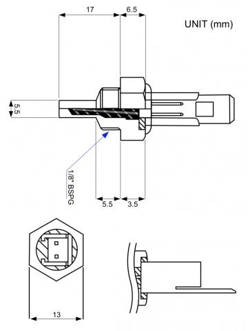 ATC Semitec FRP3 HVAC Immersion Temperature Sensor