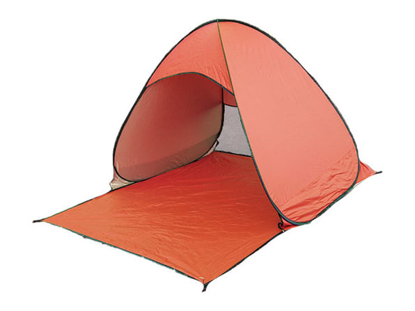 Pop-Up Beach Tent with UV 50+ Protection (Orange)