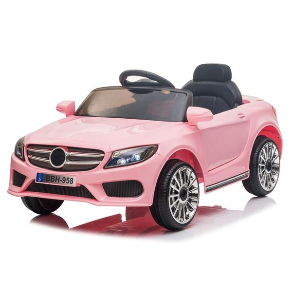 12V Kids Ride On Car 2.4GHZ Remote Control LED Lights Pink
