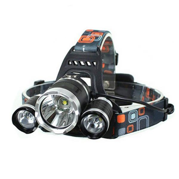 LW-5000 3*LED 10W 3-Mode 5000LM White Light Headlamp Black