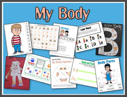 My Body Printables