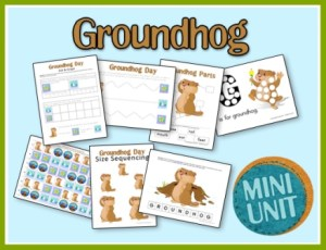 groundhog preschool printables