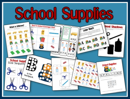 School Supplies Printables