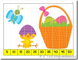 K Skip Counting Puzzle- Easter