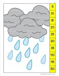 Skip Counting Puzzle- Rain