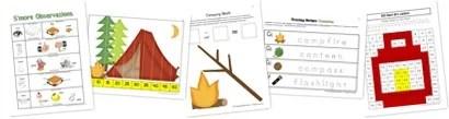 Free Kindergarten Camping Printables