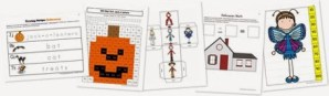 Halloween Kindergarten Extension Pack