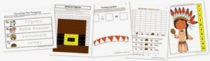 Thanksgiving Kindergarten Extension Pack