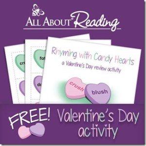 FREE Rhyming Sweethearts Activity