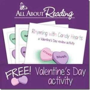 FREE Rhyming Sweethearts Activity